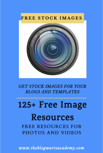 Stock Images and Video Resources for Bloggers