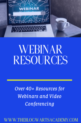 WEBINAR RESOURCES FOR bloggers