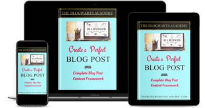 Blogwarts Academy Create Perfect Blog Post digital covers
