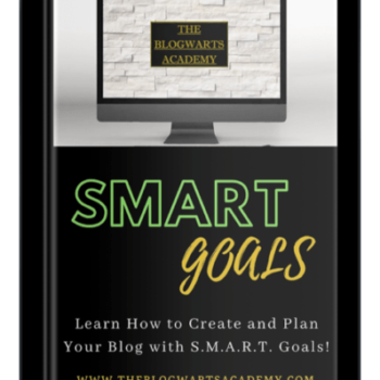 Blogwarts Academy SMART Goals ebook device
