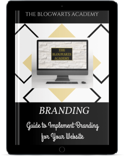 Blogwarts Academy Branding Guide ebook device