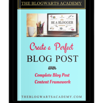 Blogwarts Academy Create Perfect Post ebook device