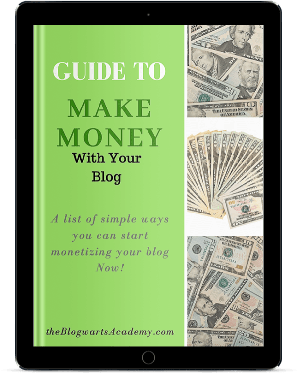 Blogwarts Academy Guide to Make Money ebook device