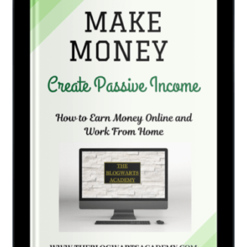 Blogwarts Academy Make Money with Passive Income ebook device