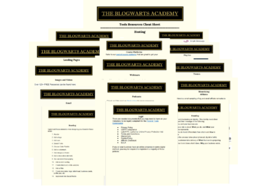 Blogwarts Academy Free Blog Resources Cheatsheets Group